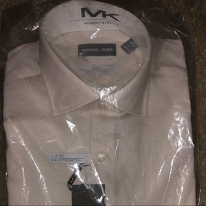 Michael Kors Ivory Slim Fit Shirt